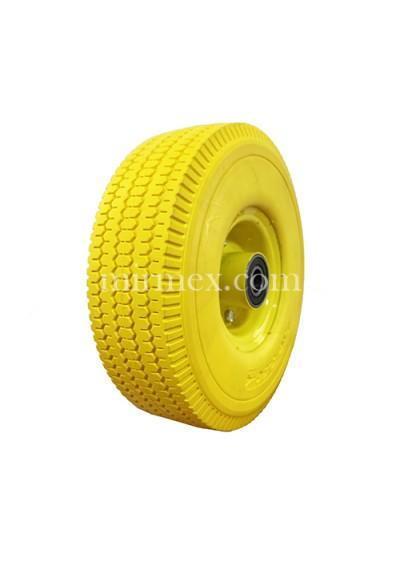 Колесо 3.50-4/204 пінополіуретанове жовте