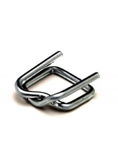 Пряжка дротяна 19 мм без покриття для поліпропіленової стрепплінг стрічки